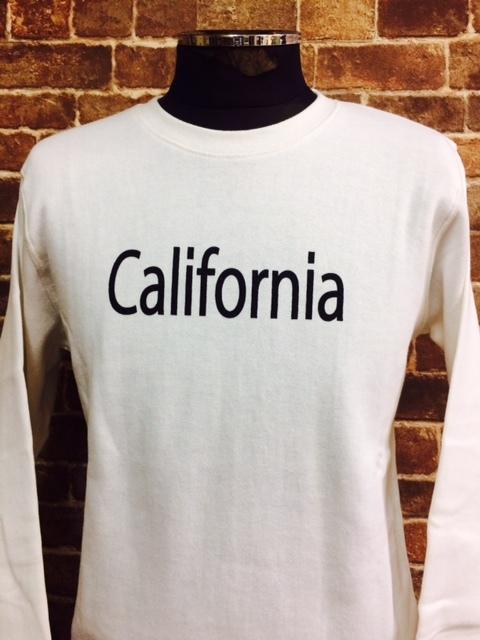 ★表記S/新品!CALIFORNIA.カリフォルニアプリント.ZIP FIVE.スウェット.白.サーフサーファー.西海岸アメカジスタイル.配色◎.サファリ/Y_画像2