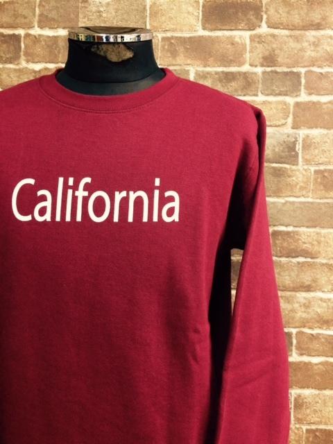 ★表記S/新品!CALIFORNIA.カリフォルニアプリント.ZIP FIVE.スウェット.WINE.サーフサーファー.西海岸アメカジスタイル.配色◎.サファリ/Y_画像2