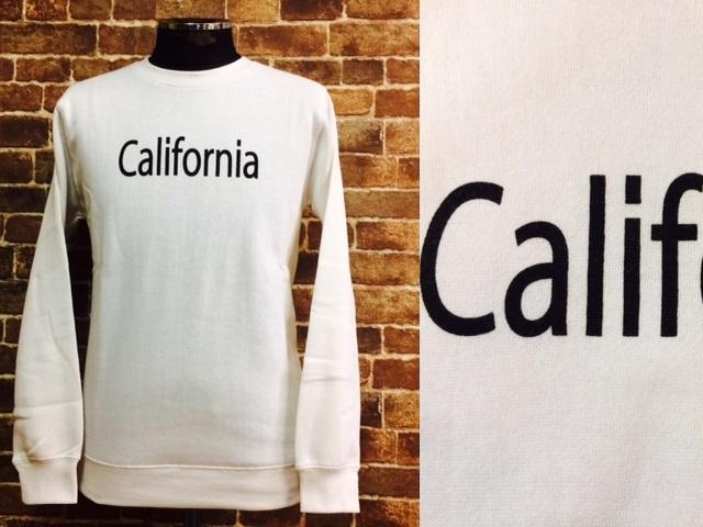 ★表記S/新品!CALIFORNIA.カリフォルニアプリント.ZIP FIVE.スウェット.白.サーフサーファー.西海岸アメカジスタイル.配色◎.サファリ/Y_画像3
