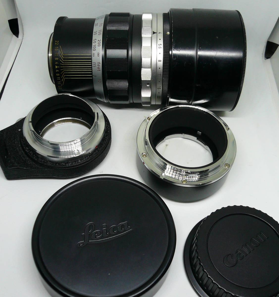ライカ TELYT 200mm f4 + Eos 変換マウント付