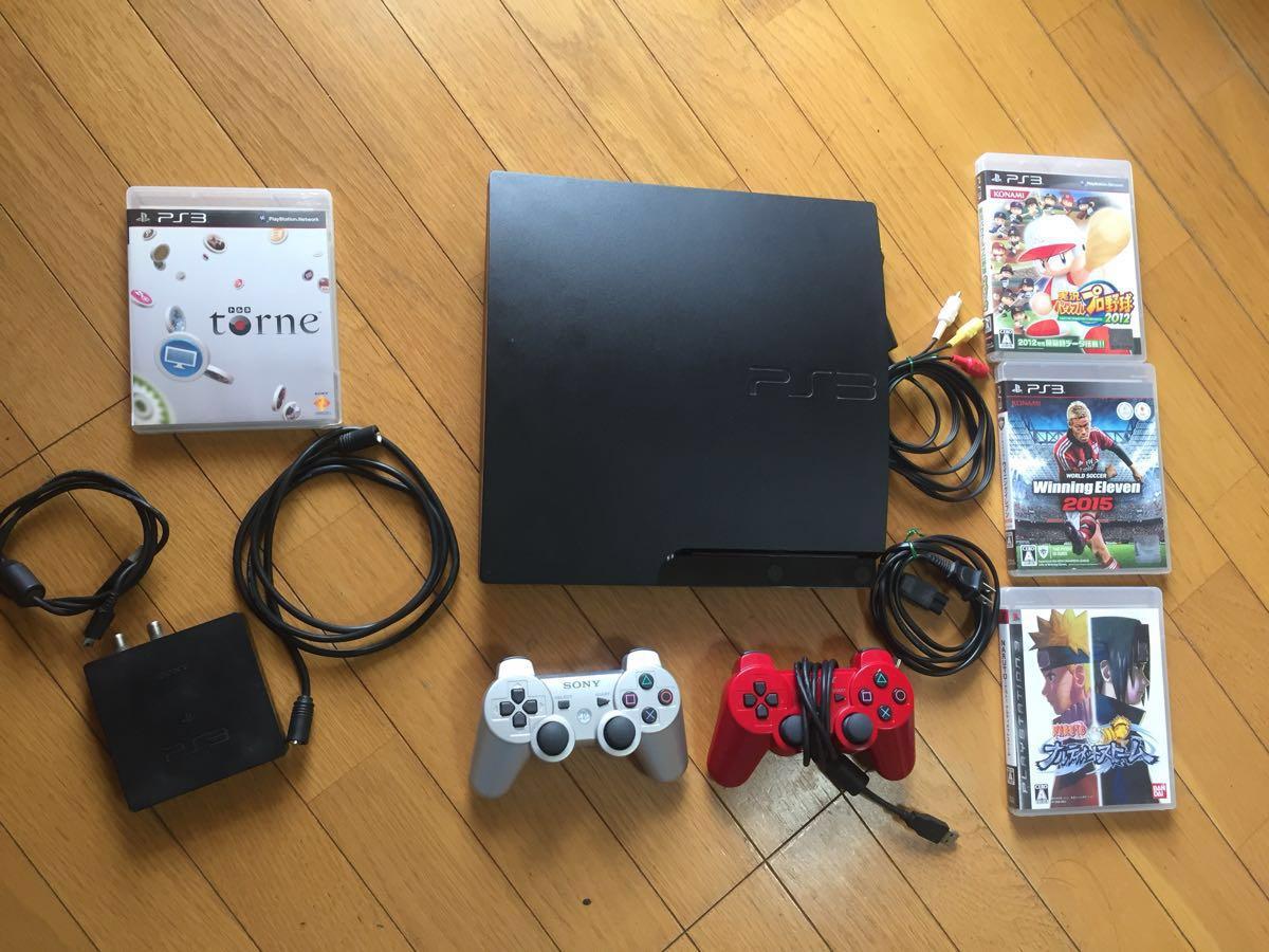 1円スタート 実働PS3 320GB トルネ セット 地デジチューナー 録画レコーダー Blue-ray