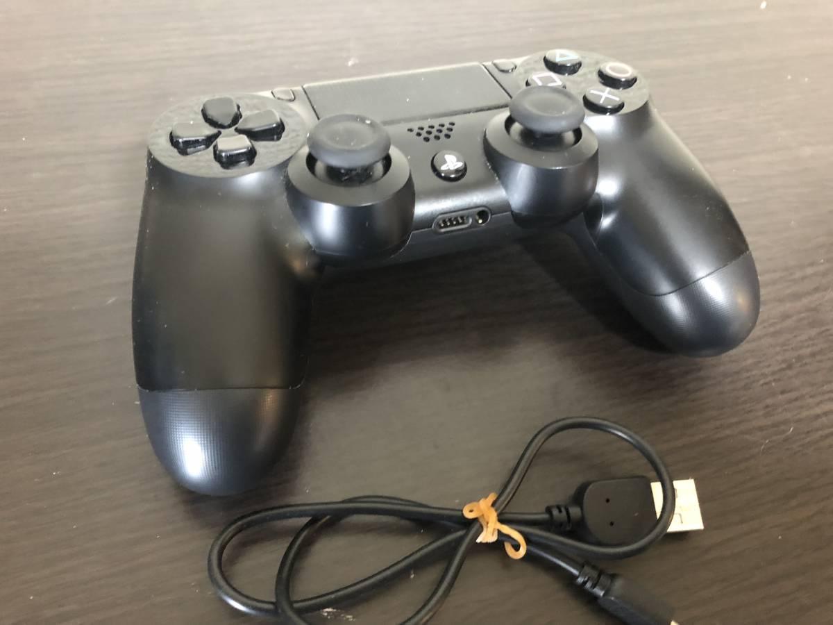 PS4 ワイヤレスコントローラー デュアルショック4 ブラック 動作良好 SONY プレステ4 ソニー