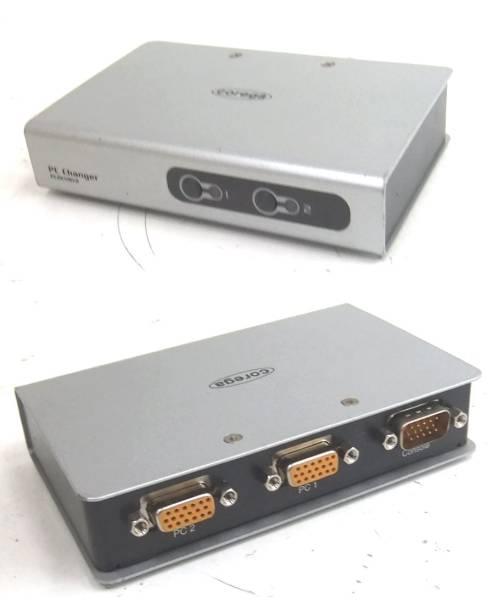 残1☆COREGA CG-PC2KVMV2 PC 2台用 切替器 ケーブルセット_画像2