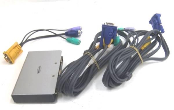 残1☆COREGA CG-PC2KVMV2 PC 2台用 切替器 ケーブルセット_画像1
