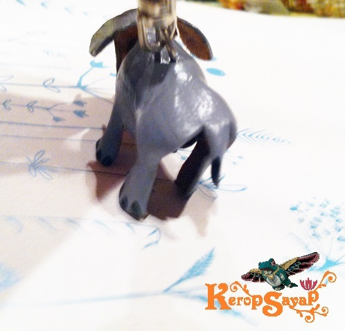 革製 灰色ゾウさんキーホルダーS-GY レザークラフト皮 ハンドメイド手作り ぞう象エレファント アニマル動物 ブサカワ癒し系♪_画像8