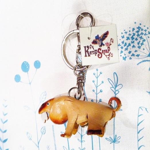 革製 ワンコキーホルダーS-NT レザークラフト ハンドメイド手作り 皮 犬いぬイヌDog アニマル動物 ブサカワ癒し系♪_画像5