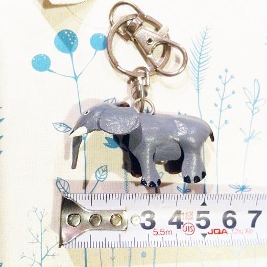 革製 灰色ゾウさんキーホルダーS-GY レザークラフト皮 ハンドメイド手作り ぞう象エレファント アニマル動物 ブサカワ癒し系♪_画像4