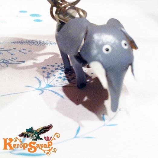 革製 灰色ゾウさんキーホルダーS-GY レザークラフト皮 ハンドメイド手作り ぞう象エレファント アニマル動物 ブサカワ癒し系♪_画像10