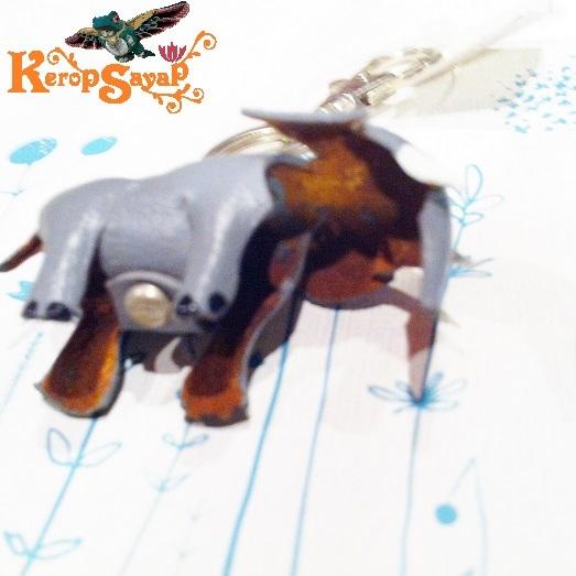 革製 灰色ゾウさんキーホルダーS-GY レザークラフト皮 ハンドメイド手作り ぞう象エレファント アニマル動物 ブサカワ癒し系♪_画像9