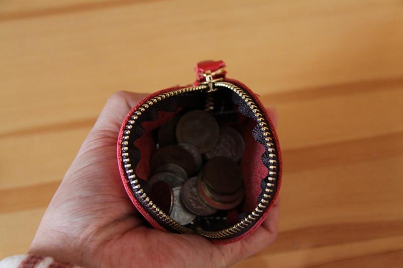 1円~ハンドメード本革小銭入れメンズ  コイン紙幣大量収納可能ビンテージ牛革_画像3
