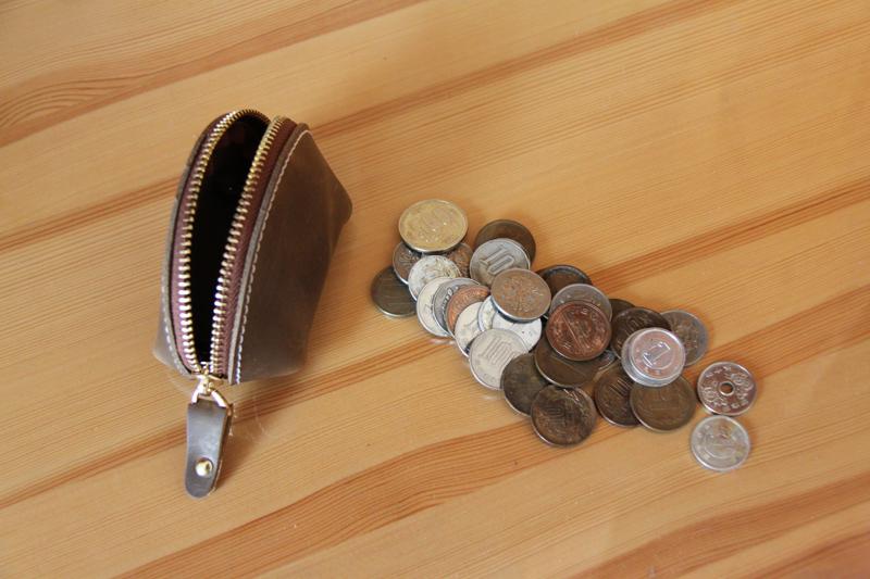 1円~ハンドメード本革小銭入れメンズ  コイン紙幣大量収納可能ビンテージ牛革_画像4