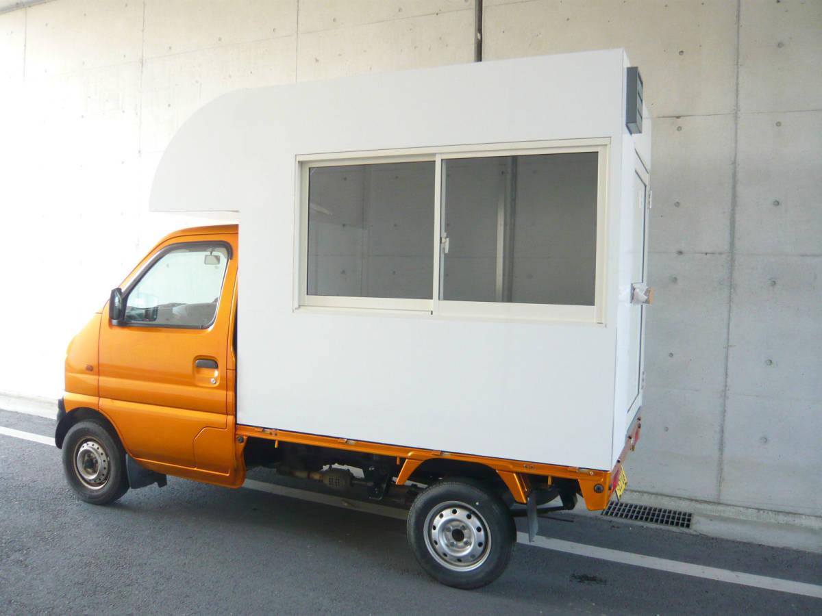 ■移動販売 荷台ボックス 製作 キッチンカー製作 ケータリング 白■