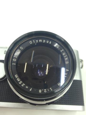 4627 カメラ★オリンパスペン OLYMPUS-PEN F PEN-FT シルバー +レンズ3本 他 シールド等 美品_画像4