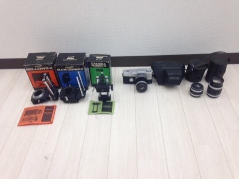 4627 カメラ★オリンパスペン OLYMPUS-PEN F PEN-FT シルバー +レンズ3本 他 シールド等 美品