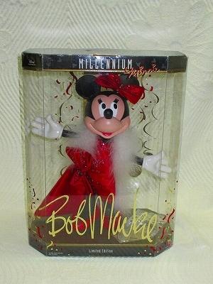 即決あり ミレニアム限定2000Bob Mackie Mattel Disney 30cmミニー フィギュア マテル ディズニーコレクタードール ボブマッキーBarbie人形_ミニー コラボ限定品2000体 未使用品