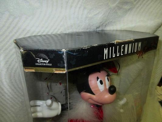 即決あり ミレニアム限定2000Bob Mackie Mattel Disney 30cmミニー フィギュア マテル ディズニーコレクタードール ボブマッキーBarbie人形_ダメージあり