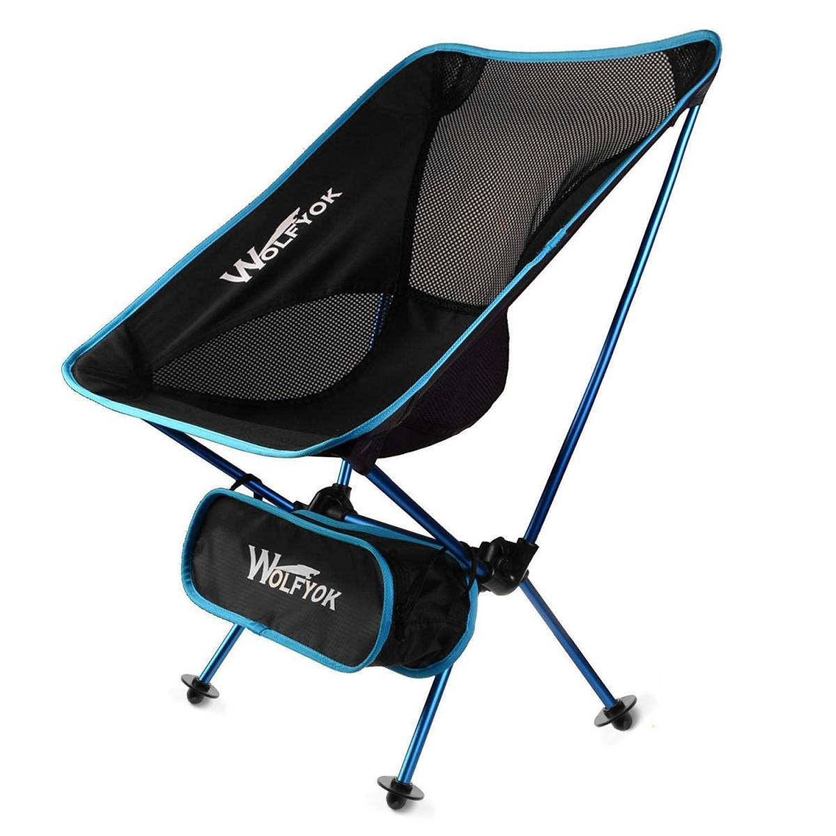 【新品】アウトドアチェア 【最新改良版】 折りたたみ椅子 コンパクト 耐荷重100kg 軽量 持ち運びに便利な専用ケース付き お釣り 登山_画像1