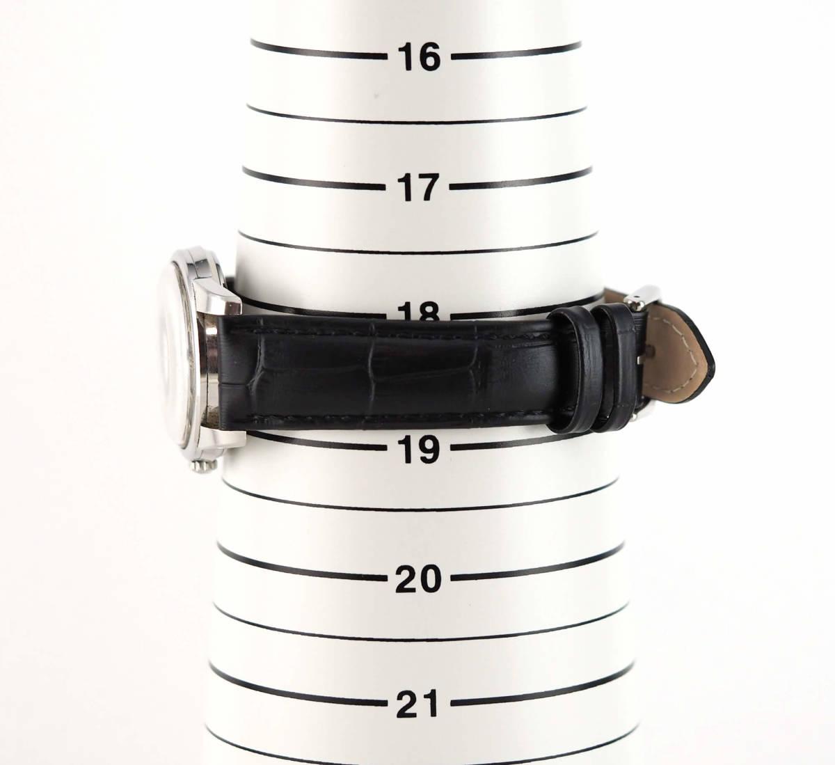 オメガ シーマスター Cal.562 自動巻き ブラック メンズ腕時計 OMEGA Seamaster AUTOMATIC 黒文字盤 オートマチック 動作確認済み_画像9