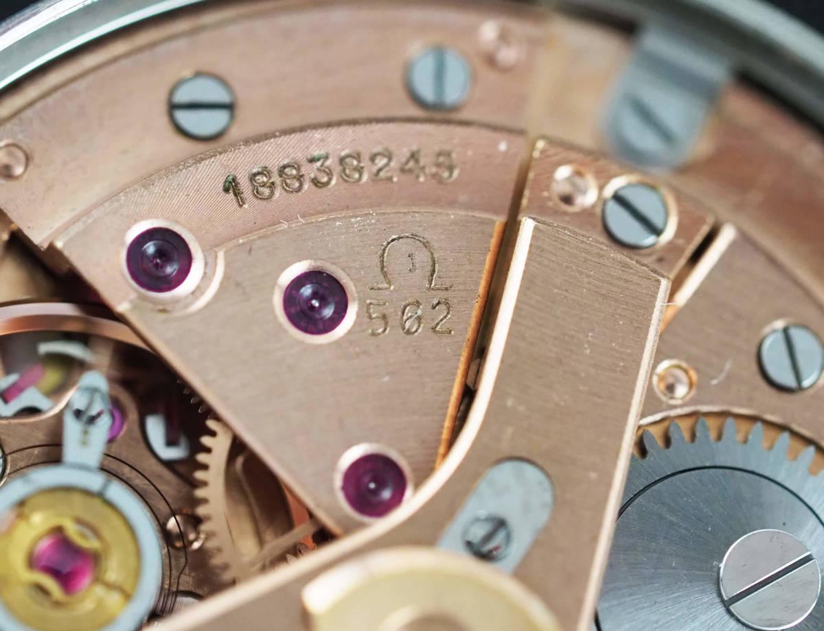 オメガ シーマスター Cal.562 自動巻き ブラック メンズ腕時計 OMEGA Seamaster AUTOMATIC 黒文字盤 オートマチック 動作確認済み_画像8