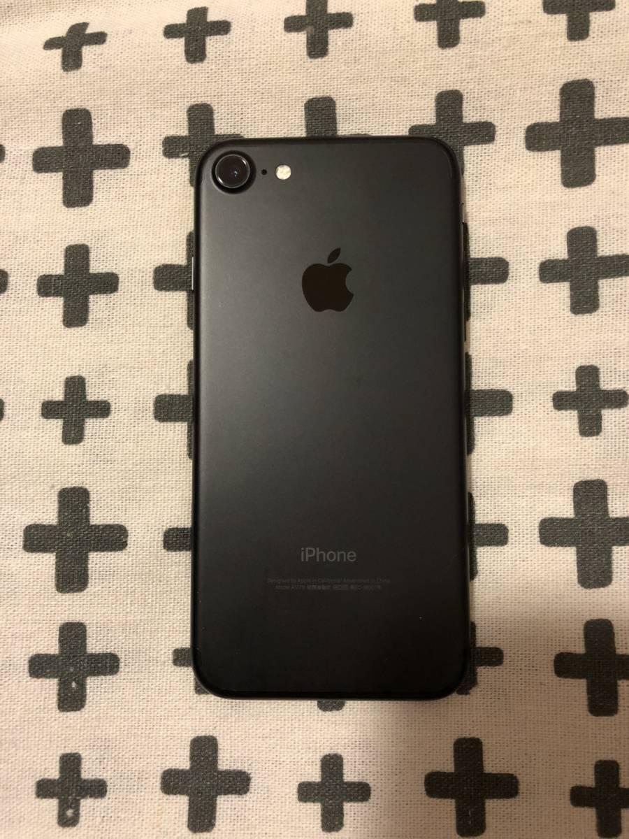 iPhone7 128GB Appleオンラインストア購入 SIMフリー ブラック 中古_画像3