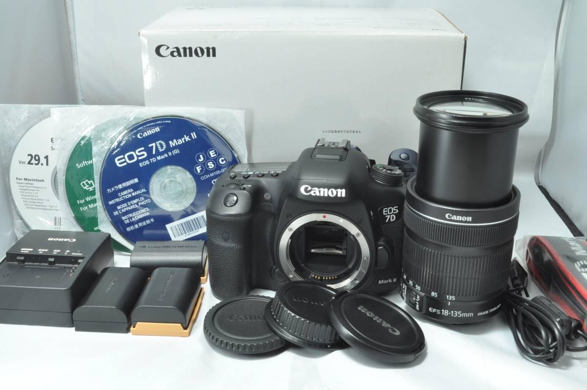 ★極美品★キャノン Canon EOS 7D MarkⅡマーク2 18-135 IS STM セット 新品バッテリー2個おまけ!【1年間返品保証付】 k2h01121