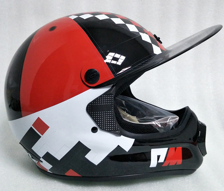 アメリカ プロモデル pm オフロード バイク フルフェイス ヘルメット m サイズ カーボン 新品 在庫 格安 期間 限定 セール 処分 即日_画像6