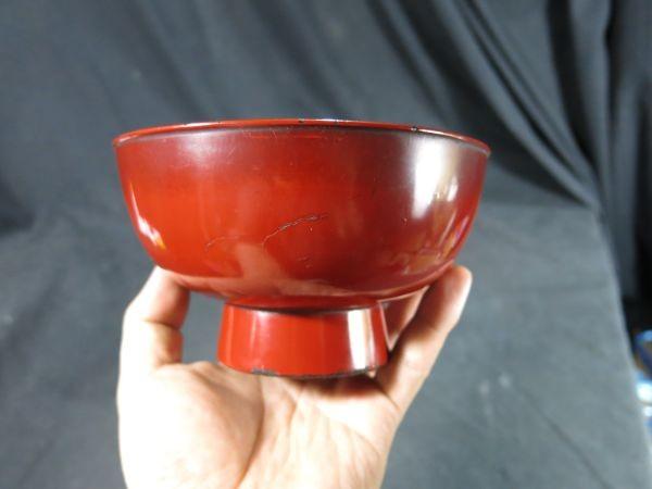 元和二年(1616年) 根来椀 漆器 漆工 蒔絵 食器 飲食器 膳 飯椀_画像3