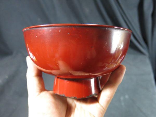元和二年(1616年) 根来椀 漆器 漆工 蒔絵 食器 飲食器 膳 飯椀_画像5