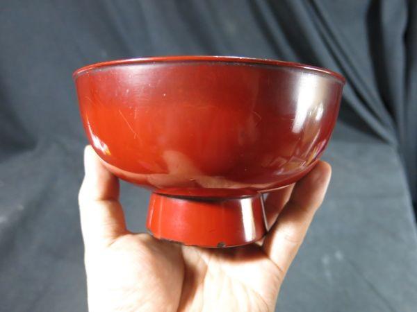 元和二年(1616年) 根来椀 漆器 漆工 蒔絵 食器 飲食器 膳 飯椀_画像4