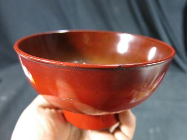 元和二年(1616年) 根来椀 漆器 漆工 蒔絵 食器 飲食器 膳 飯椀_画像8