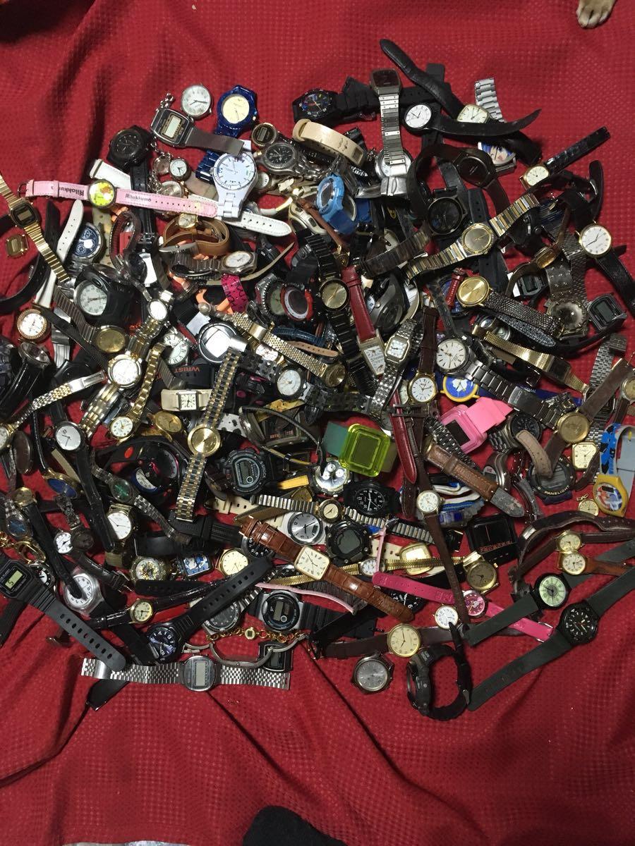 1円スタート 時計 メンズ レディース クォーツ 大量 まとめ売り セットジャンク 200個以上