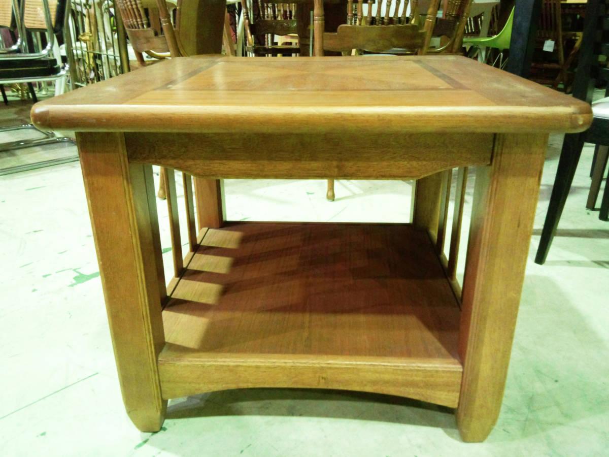 【天板の模様がかわいいセンターテーブル】サイドテーブル アメリカン カントリー 木製 ナチュラル リビング 収納付きで便利_画像3