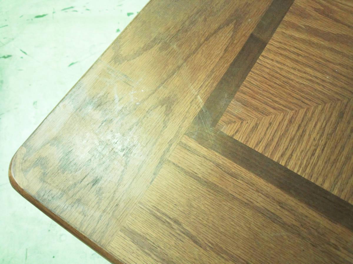 【天板の模様がかわいいセンターテーブル】サイドテーブル アメリカン カントリー 木製 ナチュラル リビング 収納付きで便利_画像6