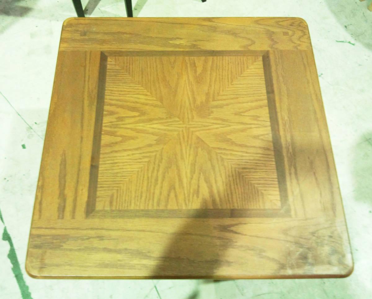 【天板の模様がかわいいセンターテーブル】サイドテーブル アメリカン カントリー 木製 ナチュラル リビング 収納付きで便利_画像4
