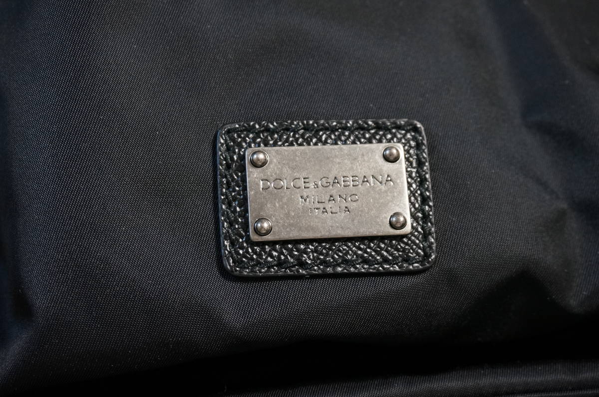 定価18万 新品 Dolce&Gabbana ドルチェ&ガッバーナ リュック バックパック パッチワークデザイン バッグ ショルダー 鞄 ドルガバ 黒トート_画像7