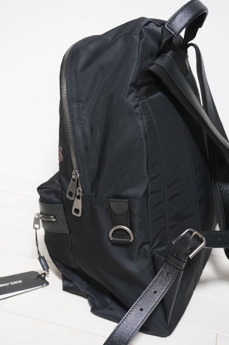 定価18万 新品 Dolce&Gabbana ドルチェ&ガッバーナ リュック バックパック パッチワークデザイン バッグ ショルダー 鞄 ドルガバ 黒トート_画像3
