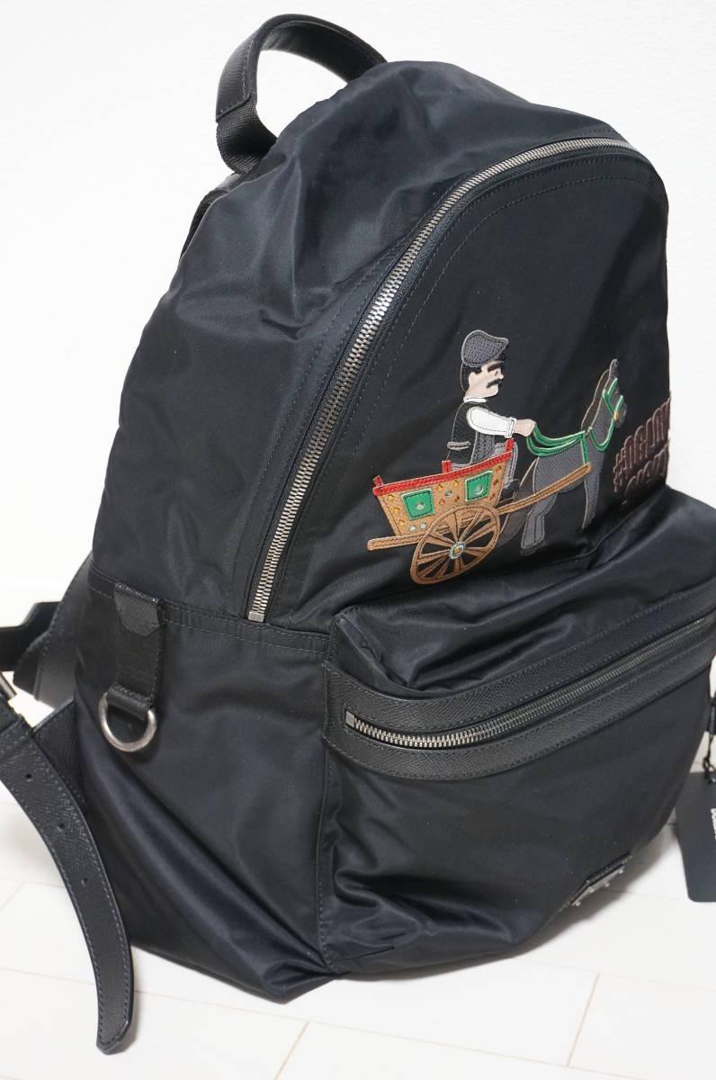 定価18万 新品 Dolce&Gabbana ドルチェ&ガッバーナ リュック バックパック パッチワークデザイン バッグ ショルダー 鞄 ドルガバ 黒トート_画像2