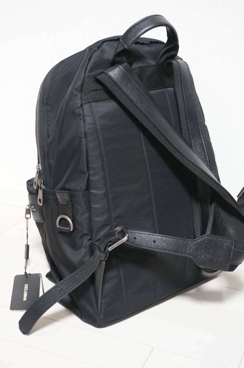 定価18万 新品 Dolce&Gabbana ドルチェ&ガッバーナ リュック バックパック パッチワークデザイン バッグ ショルダー 鞄 ドルガバ 黒トート_画像6