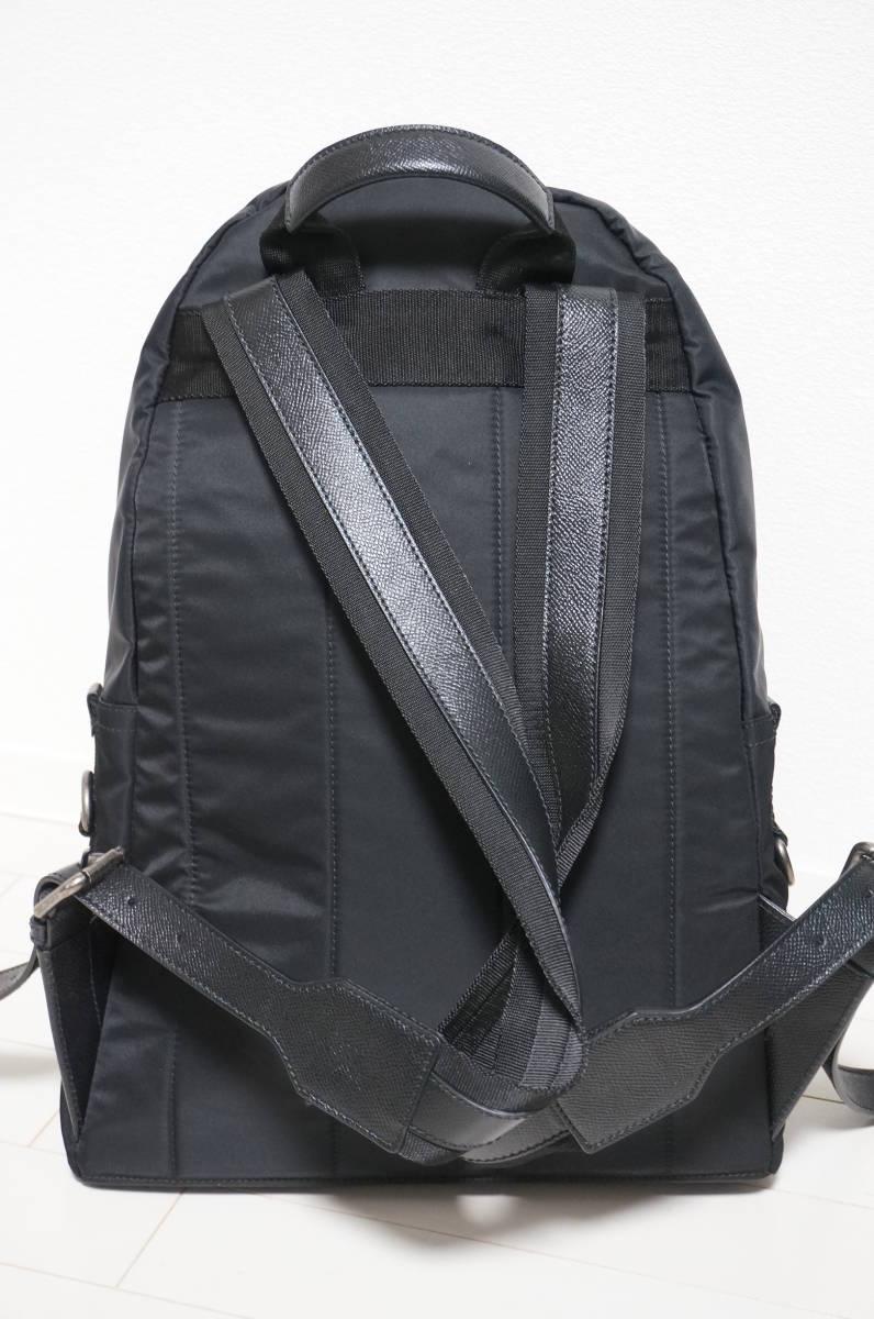 定価18万 新品 Dolce&Gabbana ドルチェ&ガッバーナ リュック バックパック パッチワークデザイン バッグ ショルダー 鞄 ドルガバ 黒トート_画像4