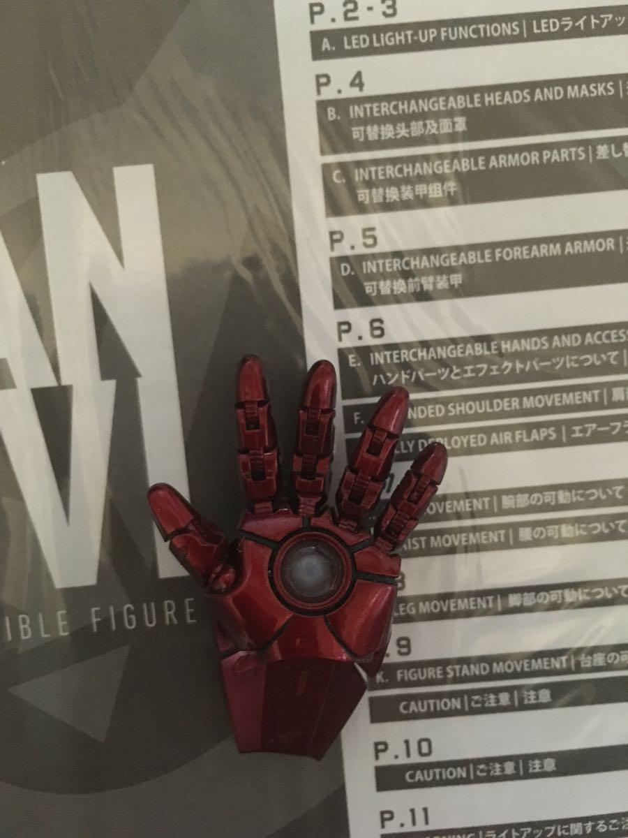 1円から ホットトイズ ダイキャスト アイアンマン マーク6 ジャンク_画像3