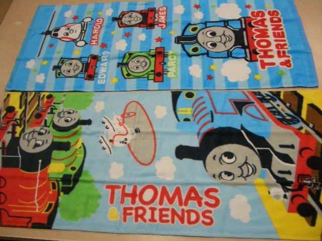 New locomotive Thomas face towel 2 pieces in 2 types