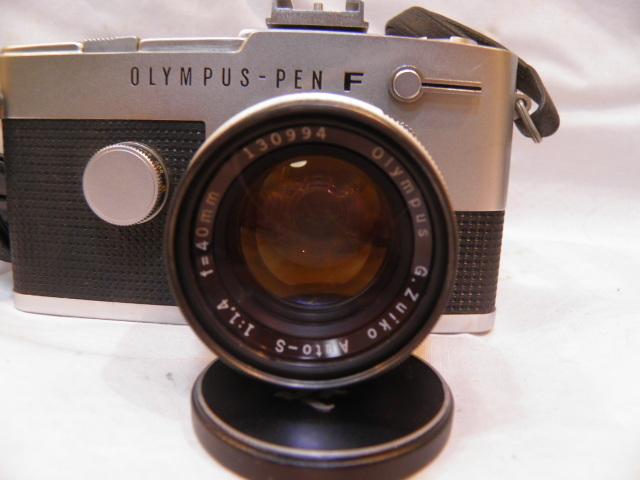 ・優良古物 オリンパスペンF+レンズ ズイコー 1:1.4 f=40㎜ フード、ソフトケース付 稼動品_画像6