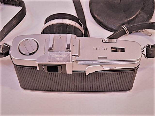 ・優良古物 オリンパスペンF+レンズ ズイコー 1:1.4 f=40㎜ フード、ソフトケース付 稼動品_画像3