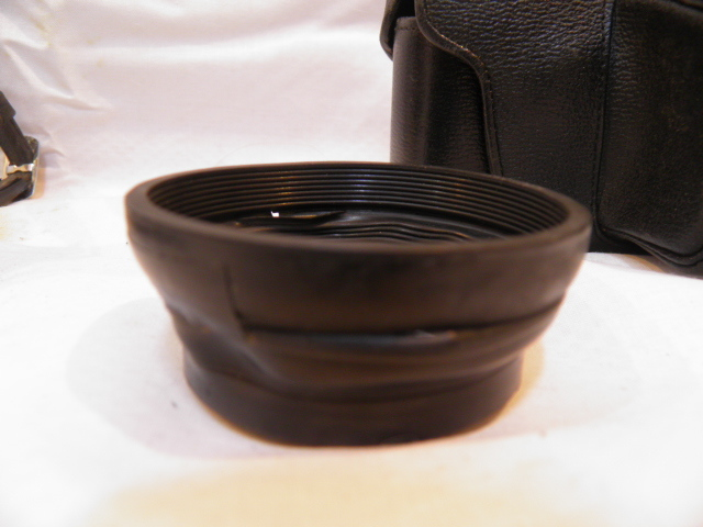 ・優良古物 オリンパスペンF+レンズ ズイコー 1:1.4 f=40㎜ フード、ソフトケース付 稼動品_画像7