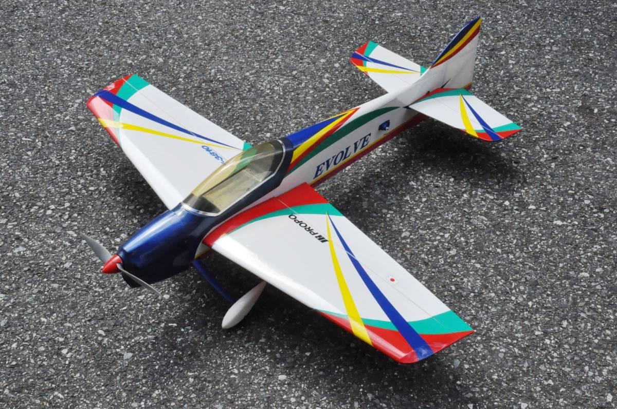 ≪HOBBYNET≫EVOLVEフルセット 15EP 20フライト 墜落なし美品 メカ類付 即飛行可能 翼幅940mm
