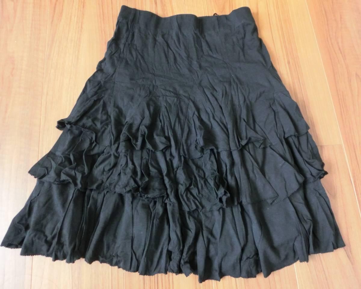 ラルフローレン フリルスカート 黒 百貨店購入 S 未使用_画像3