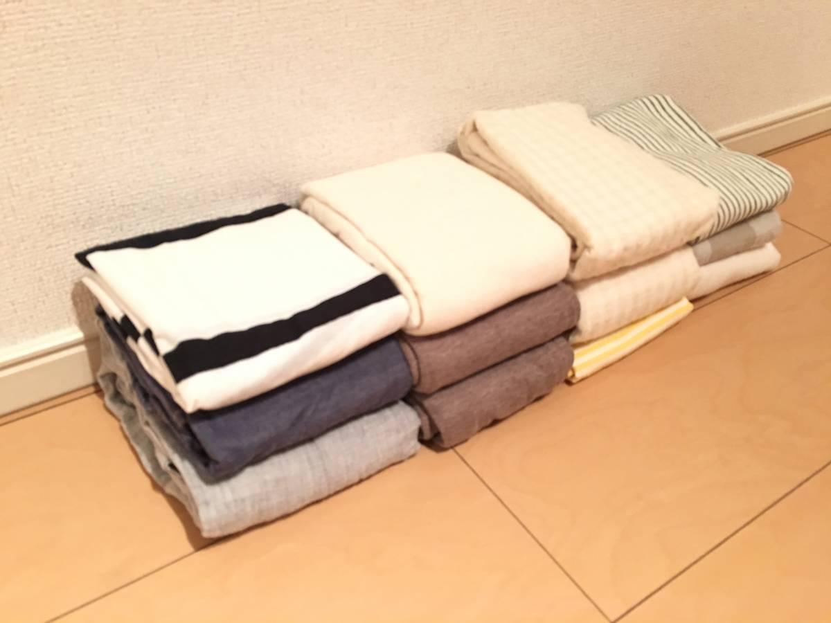 [廃盤]無印良品 まくらカバー 12点 天竺 洗いざらし サテン 帆布 ガーゼ サッカー織 デニ