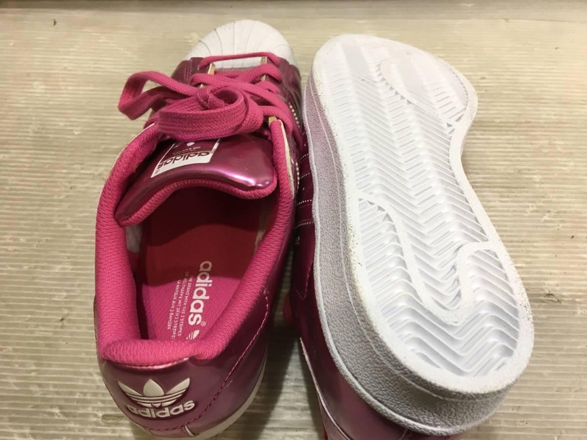 (155)adidas アディダス スニーカー ピンク_画像2