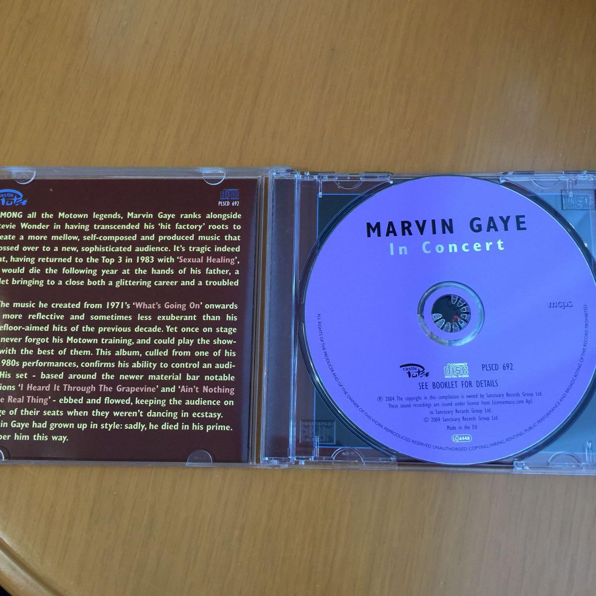 マーヴィン・ゲイ IN CONCERT EU盤 CD