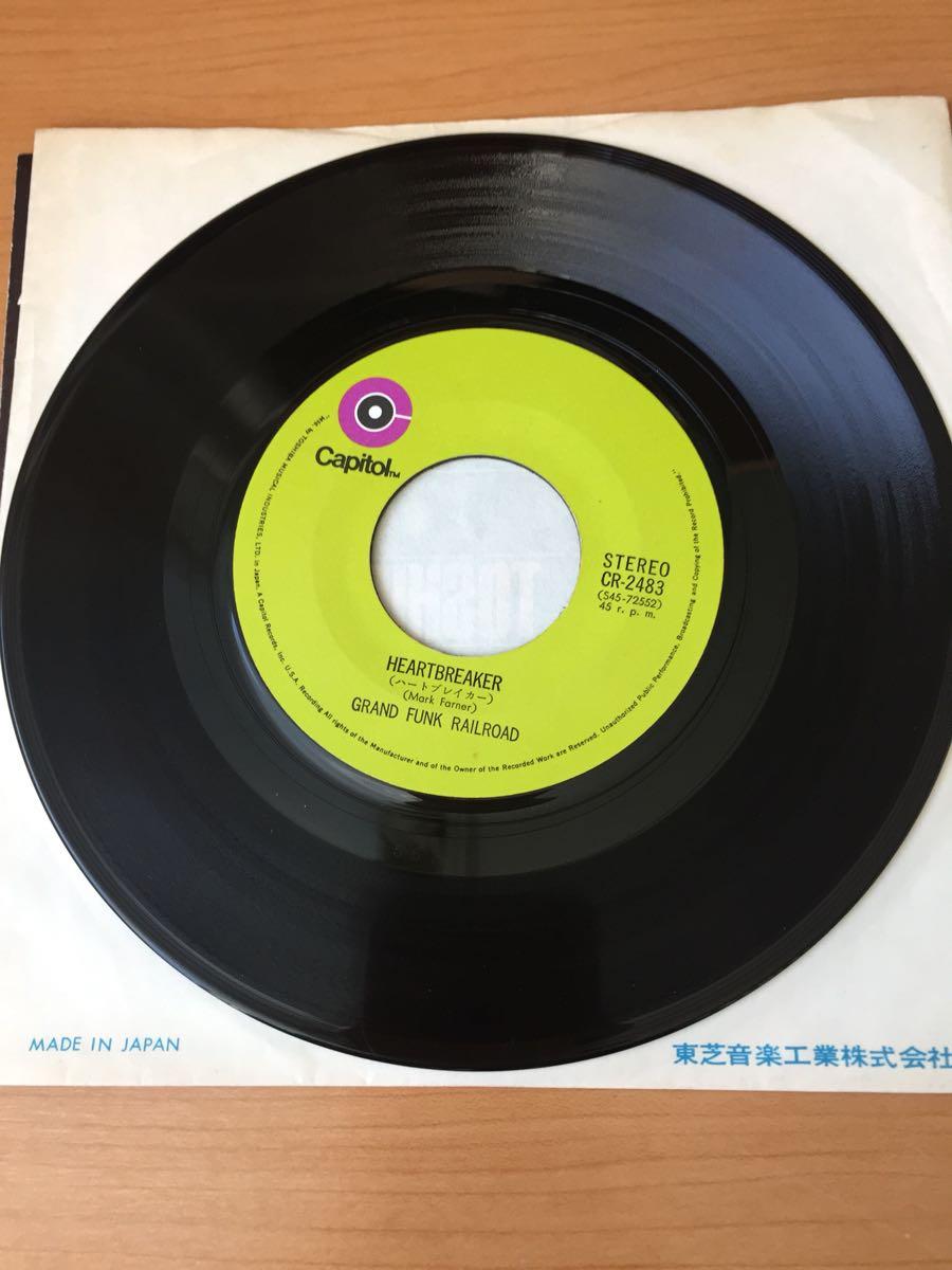 グランド・ファンク・レイルロード ハートブレイカー 国内盤7インチシングルレコード